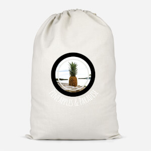Pineapples And Paradise Cotton Storage Bag