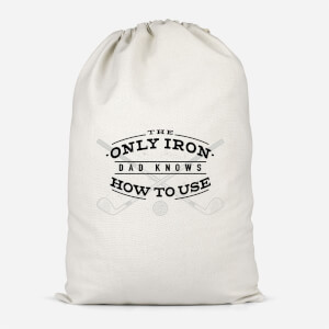 Dad's Only Iron Cotton Storage Bag