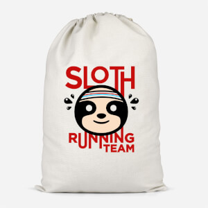 Sloth Running Team Cotton Storage Bag