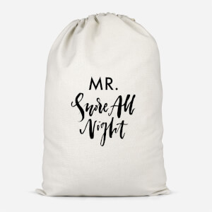 Mr. Snore All Night Cotton Storage Bag