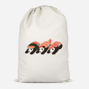 Panda Sushi Cotton Storage Bag