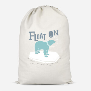 Polar Bear Float On Cotton Storage Bag