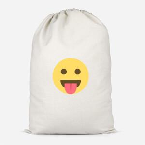 Tongue Out Face Cotton Storage Bag