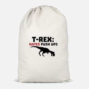 T-Rex Hates Pushups Cotton Storage Bag
