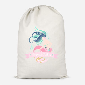 Mermaid Vibes Cotton Storage Bag