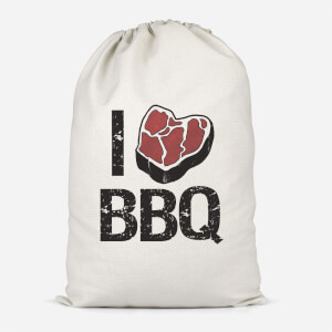 I Love BBQ Cotton Storage Bag