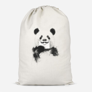 Moustache And Panda Cotton Storage Bag