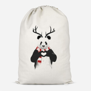 Winter Panda Cotton Storage Bag