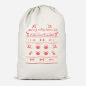 Merry Christmas Ya' Fitness Animal Cotton Storage Bag