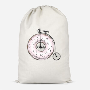 Donut Ride My Bicycle Cotton Storage Bag