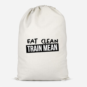 Eat Clean Train Mean Cotton Storage Bag