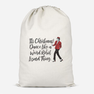 Its Christmas, Dance Like A Weird Robot Cotton Storage Bag