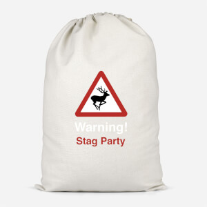 Warning Stag Party Cotton Storage Bag