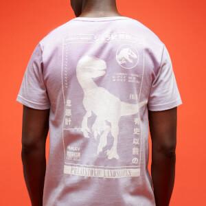 Jurassic Park Primal Distressed Printed T-Shirt - Lilac