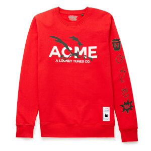 Sweat-shirt Looney Tunes ACME Capsule Bip Bip Silhouette - Rouge