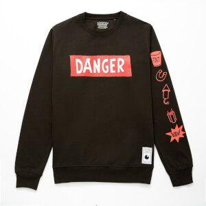 Sweat-shirt Looney Tunes ACME Capsule Danger - Noir