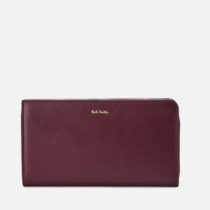 Paul Smith Women's Swirl Trim Zip Around Purse - Bordeaux