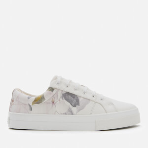 Ted Baker Women's Ephielp Leather Low Top Trainers - Ivory