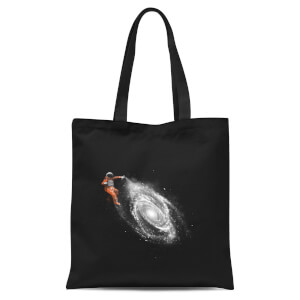 Space Art Tote Bag - Black