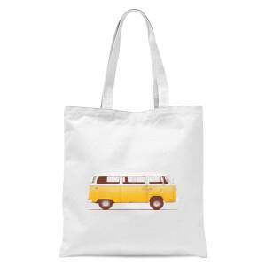 Yellow Van Tote Bag - White
