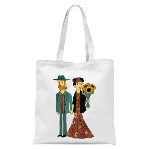 Love Is Art - Frida Kahlo And Van Gogh Tote Bag - White