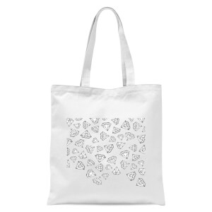 Diamond Shower Tote Bag - White