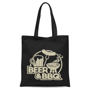 Beer & BBQ Tote Bag - Black