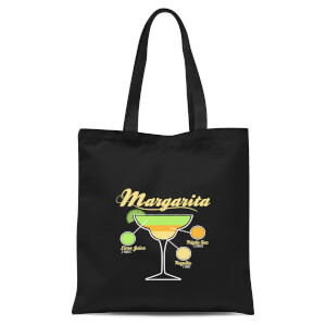 Infographic Margarita Tote Bag - Black