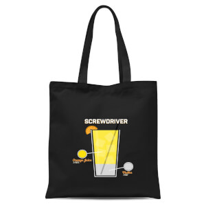 Infographic Screwdriver Tote Bag - Black