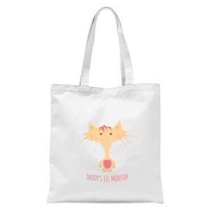 Daddys Lil Monster Tote Bag - White