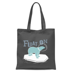 Polar Bear Float On Tote Bag - Grey