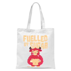 Fuelled By Sugar Tote Bag - White