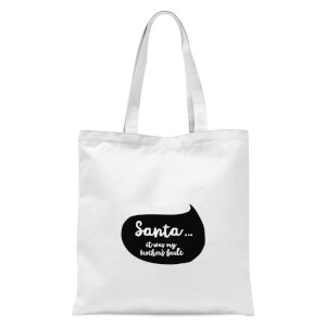 Christmas Brothers Fault Speech Bubble Tote Bag - White