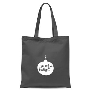 Christmas Santa Baby Bauble Tote Bag - Grey