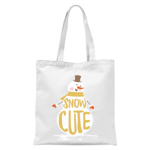 Christmas Snow Cute Snowman Tote Bag - White