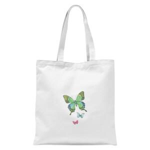 Pocket Butterflies Tote Bag - White