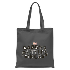 Daddy's Little Princess Tote Bag - Grey