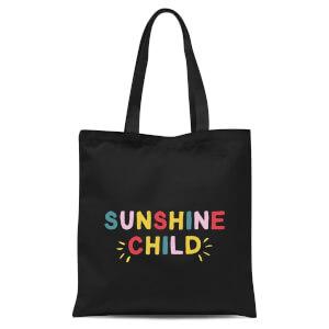 Sunshine Child Tote Bag - Black