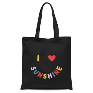 I Love Sunshine Tote Bag - Black