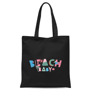 Beach Baby Tote Bag - Black