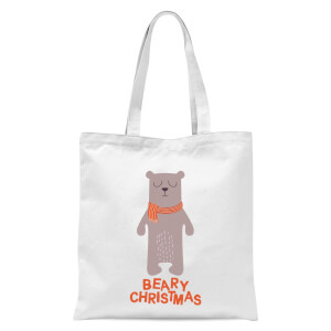 Beary Christmas Tote Bag - White