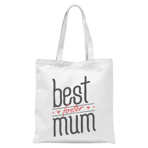 Best Foster Mum Tote Bag - White