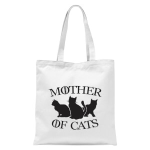 Mother Of Cats White Tee Tote Bag - White