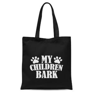My Children Bark Tote Bag - Black