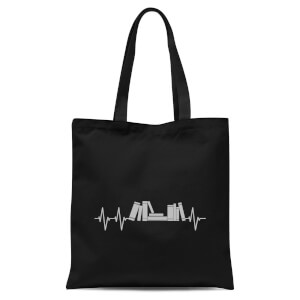 Heartbeat Books Tote Bag - Black