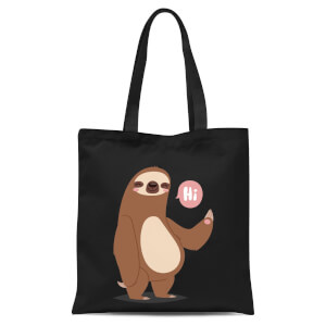 Sloth Hi Tote Bag - Black