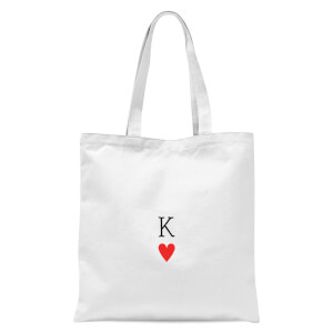 King Of Hearts Tote Bag - White