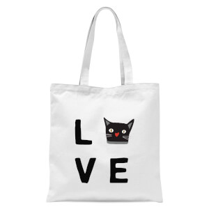 Cat Love Tote Bag - White