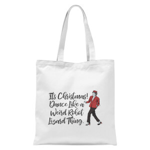 Its Christmas, Dance Like A Weird Robot Tote Bag - White