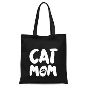 Cat Mom Tote Bag - Black
